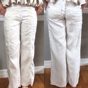 Anthropologie bica cheia Flared Linen Sailor Pants